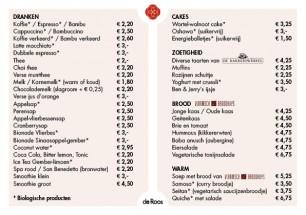 menu nederlands
