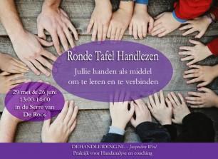 Leren over jezelf en je verbinden met anderen? Ronde tafel Handlezen in de Serre van de Roos door Jacquelien Weel van DeHandleiding.nl