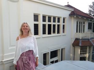 Barbara Borecka tijdens 'Geld creeren' workshop.